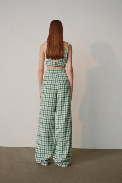 Zara - Pantalon en tweed