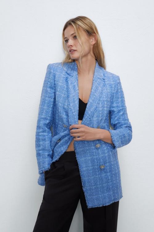 Zara - Veste de blazer en tweed