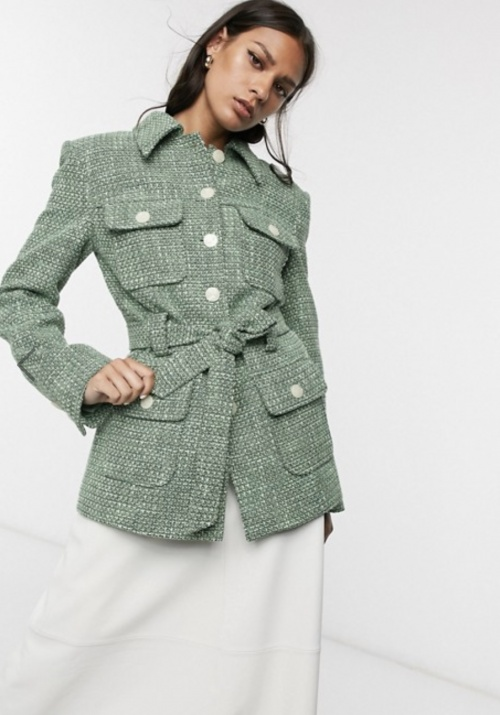 &Otherstories - Veste ceinturée en tweed