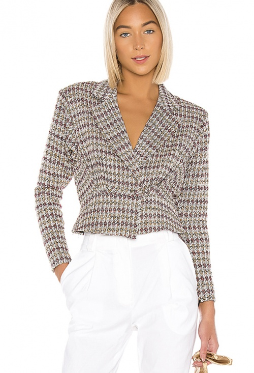 Lovers + Friends - Veste en tweed