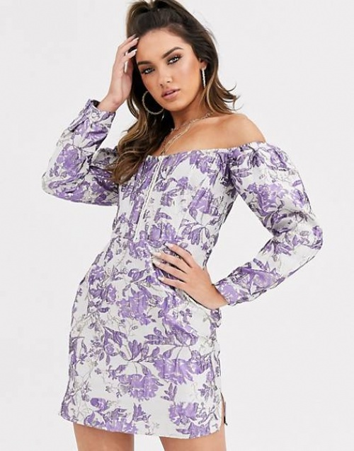 Missguided - Robe bardot