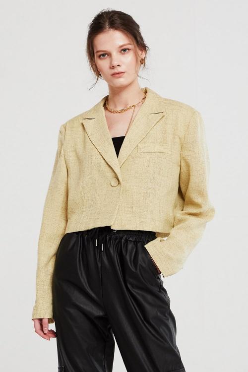 Storets - Veste de blazer cropped en tweed