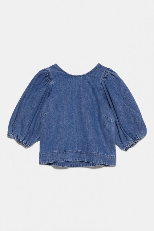 Zara - Blouse en denim