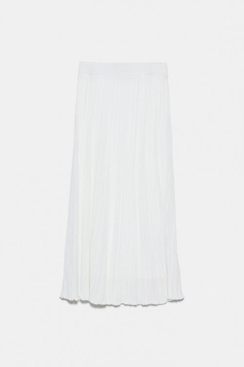 Zara - Jupe mi-longue en maille