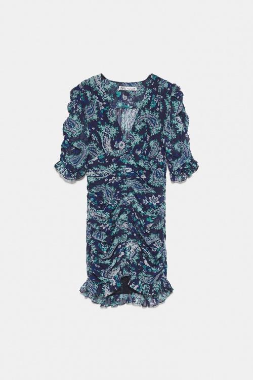 Zara - Robe courte drapée