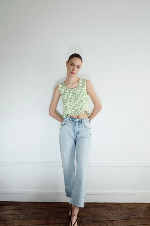 Zara - Top en tweed