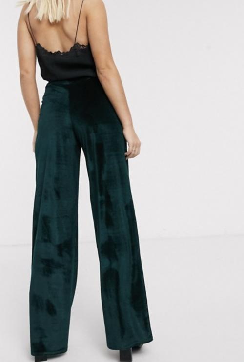 In The Style - Pantalon de costume en velour