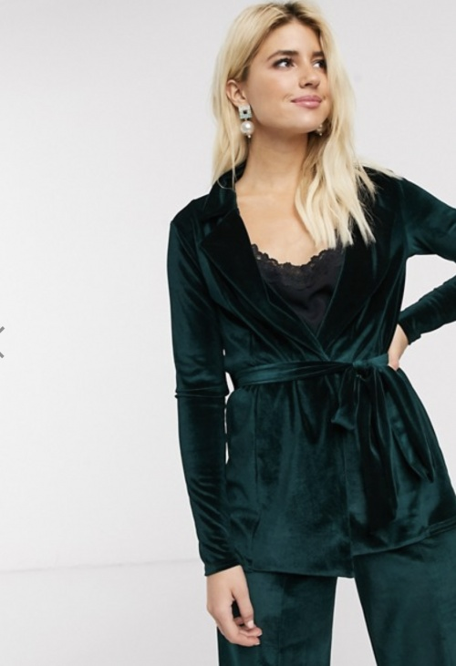 In The Style - Veste de costume en velour