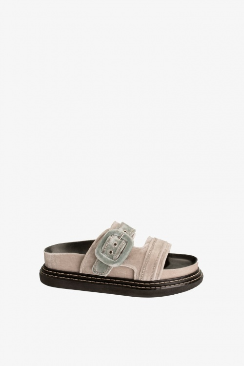 Zara - Sandales en velour