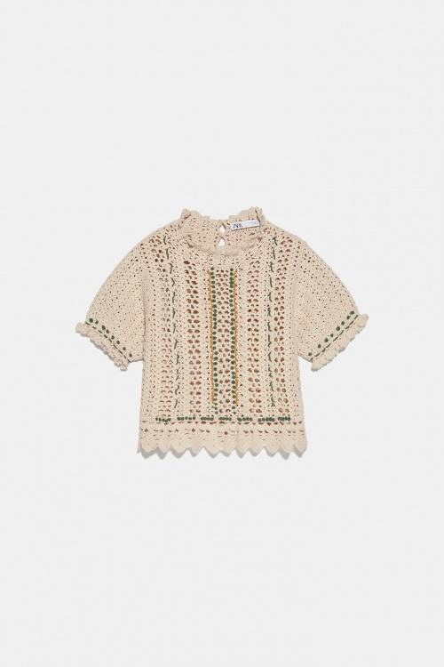 Zara - Top en crochet