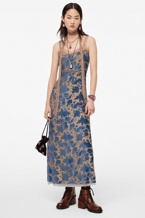Zara - Robe en velour