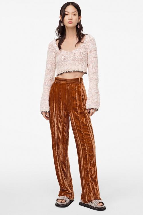 Zara - Pantalon en velour