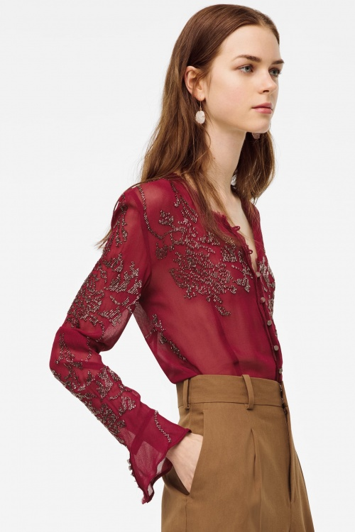 Zara - Blouse semi-transparente