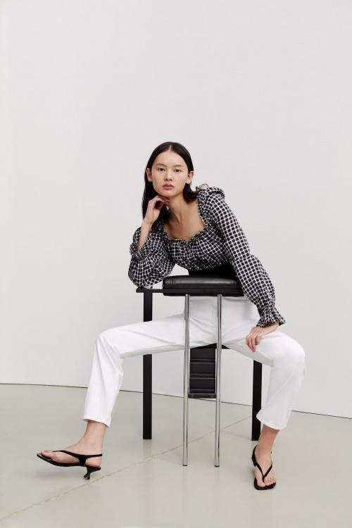 Zara - Top à carreaux