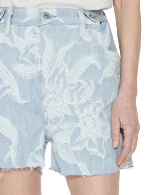 Levis - Short en jean brodé
