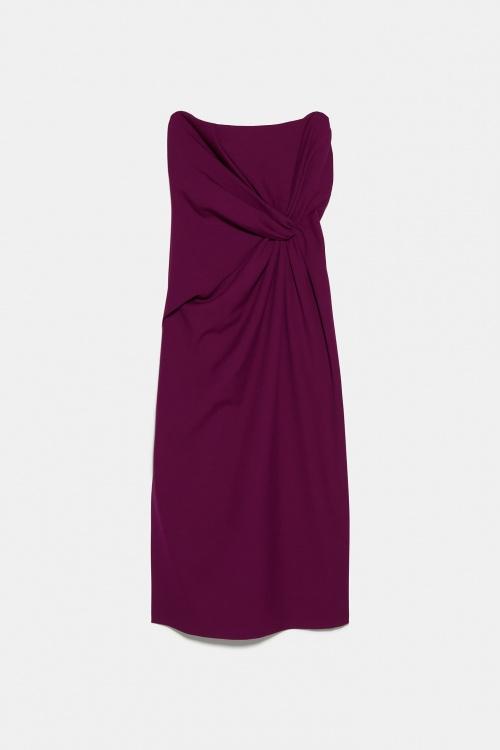 Zara - Robe mi longue drapée
