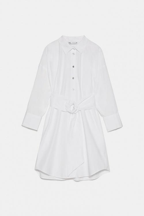 Zara - Robe chemise en popeline