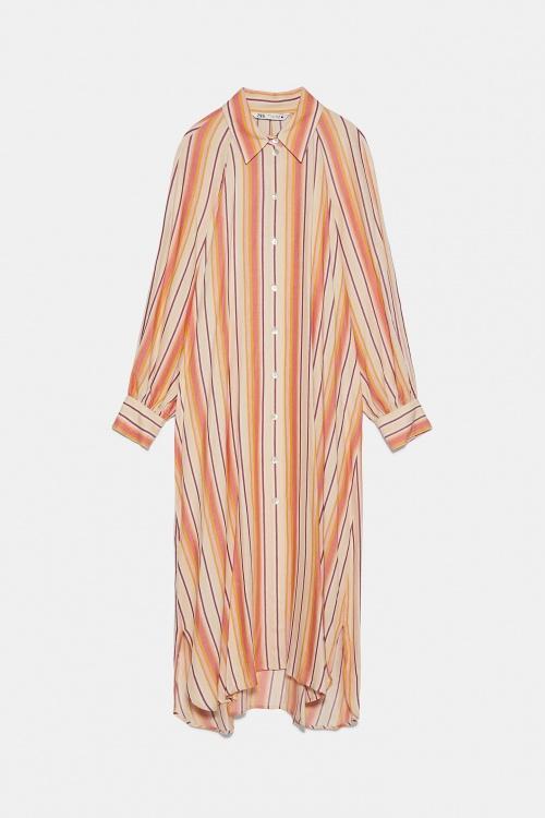 Zara - Robe chemise à rayures