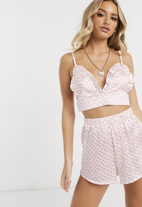 PrettyLittleThing - Pyjama à coeur