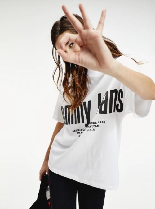 Tommy Hilfiger - T-shirt blanc logo