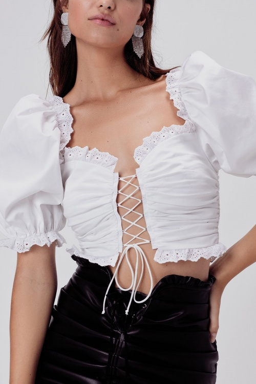 For Love And Lemons - Top lacet