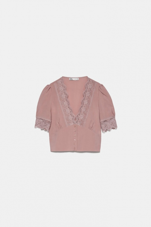 Zara - Top court en dentelle
