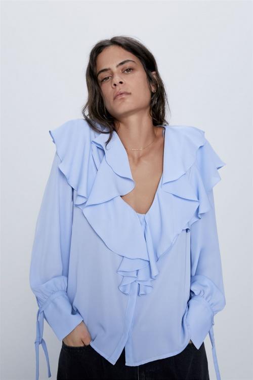 Zara - Blouse avec volants