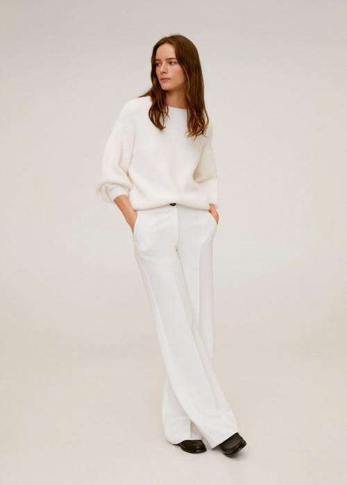 Mango - Pantalon blanc