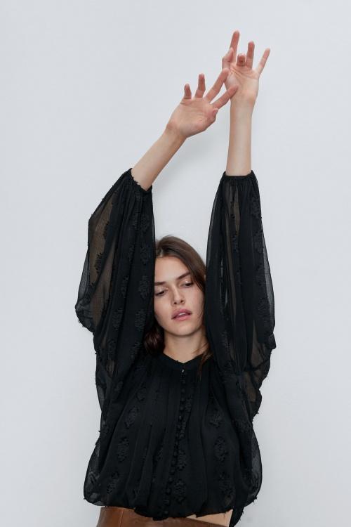 Zara - Blouse en jacquard