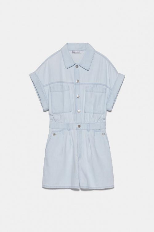 Zara - Combishort en jean