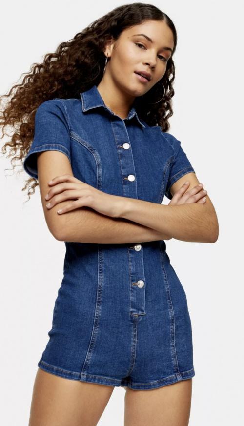 Topshop - Combishort en jean