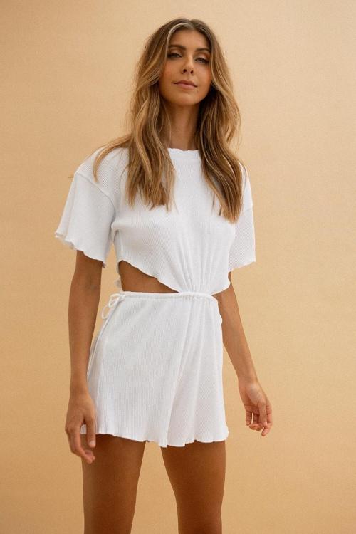 Sabo Skirt - Combishort côtelée