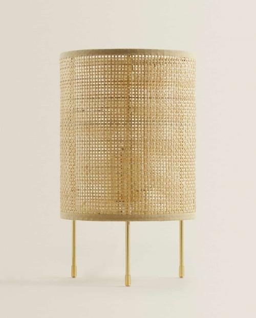 Zara Home - Lampe en rotin