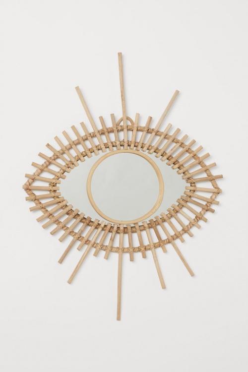 H&M Home - Miroir en rotin
