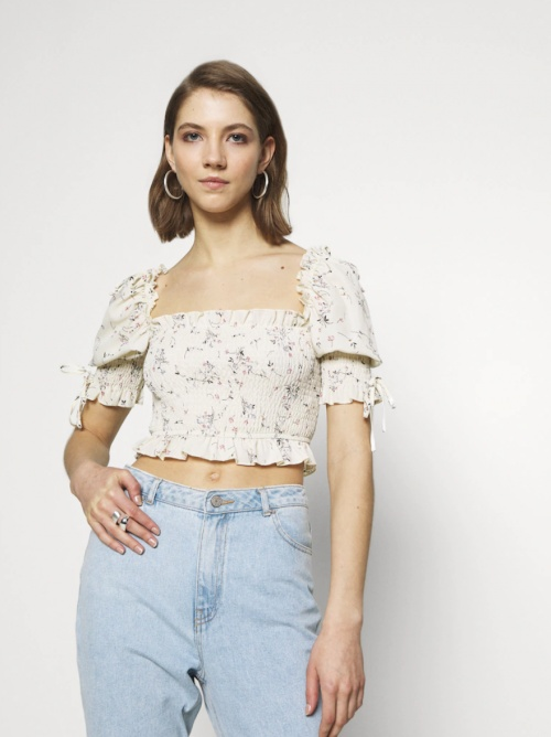 Missguided - Top manches bouffantes
