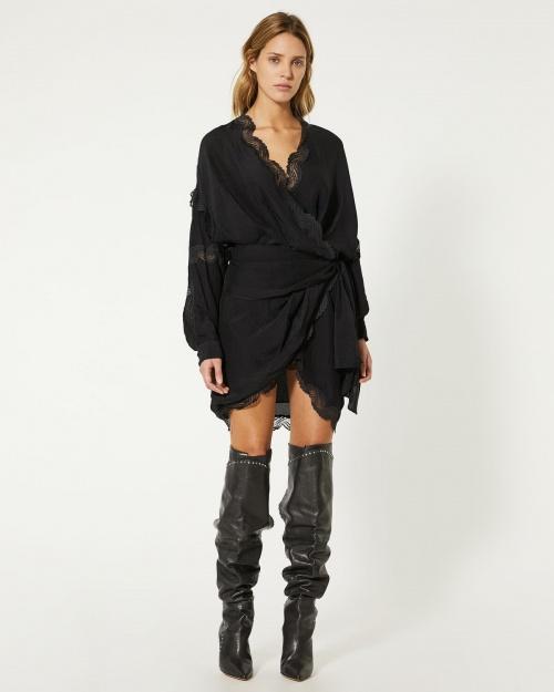 Iro Paris - Robe noire avec dentelle