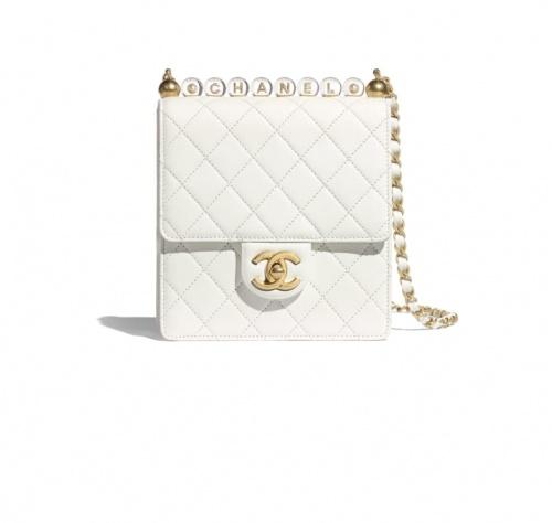 Chanel - Sac à rabat blanc