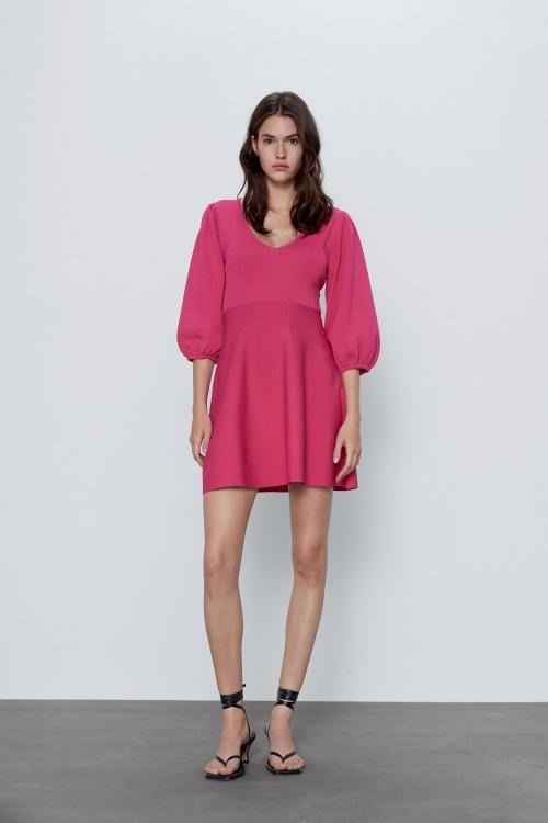 Zara - Robe à manches bouffantes