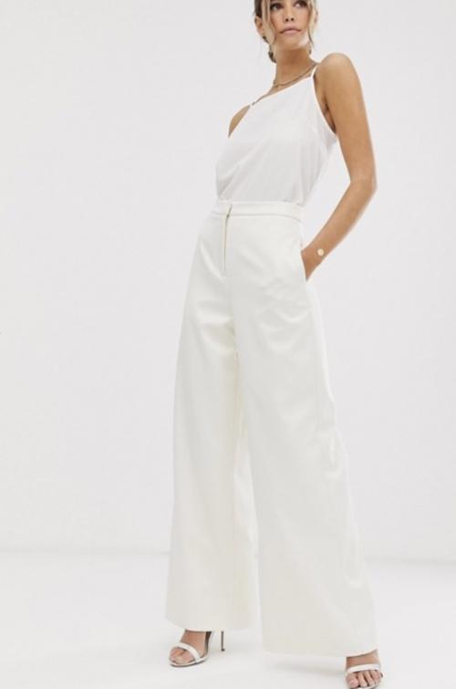 ASOS EDITION - Pantalon large blanc