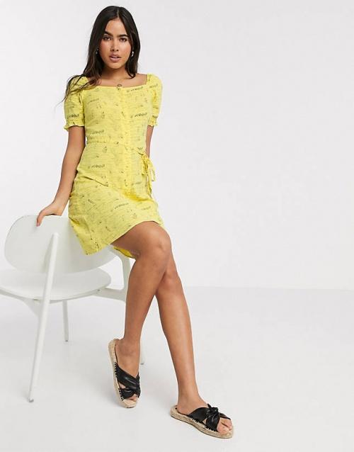 Warehouse - Robe jaune