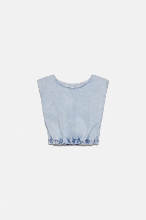 Zara - T-shirt en jean