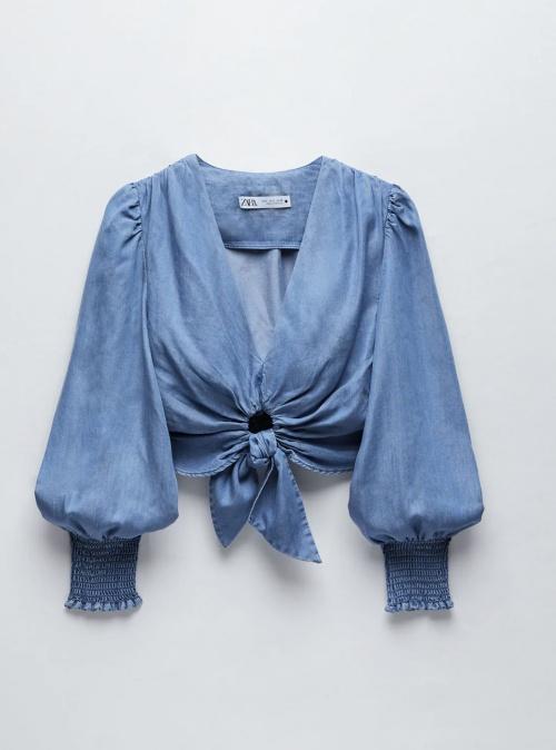Zara - Blouse en jean