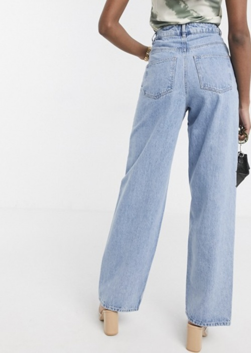 ASOS DESIGN - Jean taille haute large