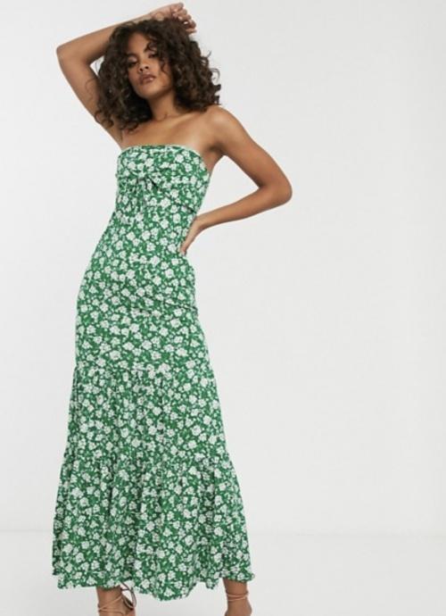 ASOS DESIGN - Robe longue à fleurs