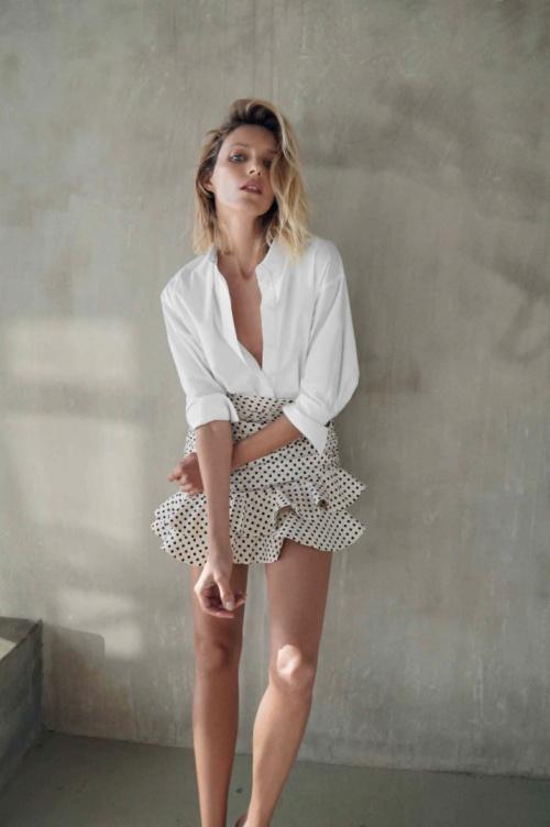Zara - Mini-jupe à pois