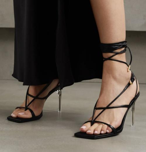 Versace - Sandales à lacets