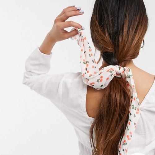ASOS DESIGN - Foulard pour cheveux imprimé cerises