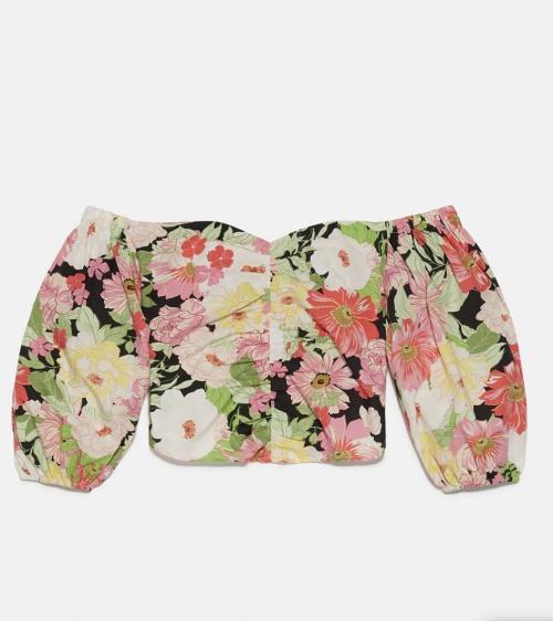 Zara - Top à fleurs
