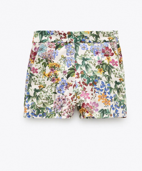 Zara - Bermuda à fleurs
