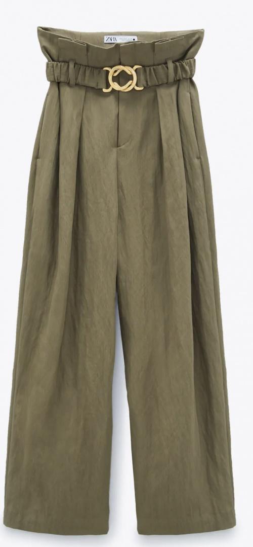 Zara - Pantalon avec ceinture